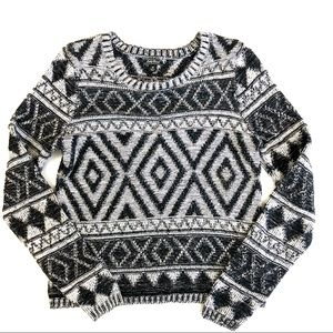Lucky Brand Cropped Aztec Sweater